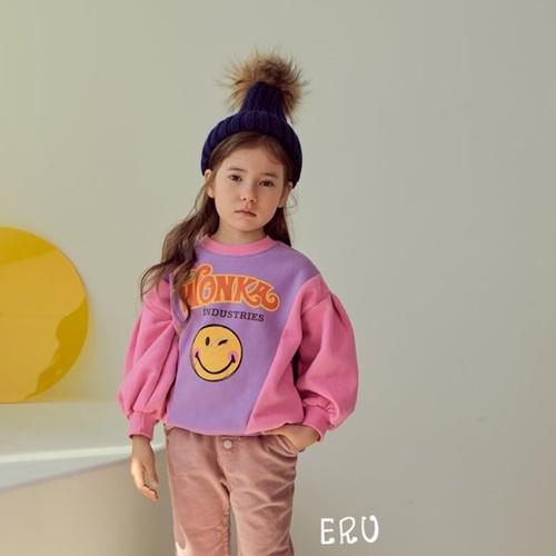 E.RU - BRAND - Korean Children Fashion - #Kfashion4kids - Colored Smile Pullover
