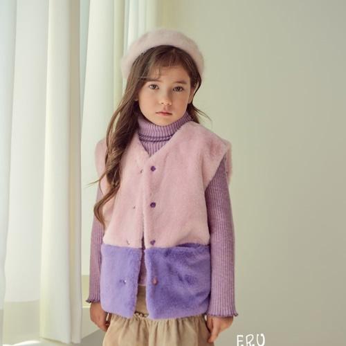 E.RU - BRAND - Korean Children Fashion - #Kfashion4kids - Mink Vest