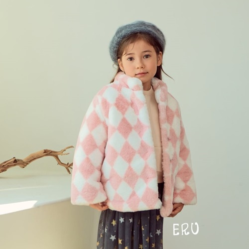 E.RU - BRAND - Korean Children Fashion - #Kfashion4kids - Mink Jacket