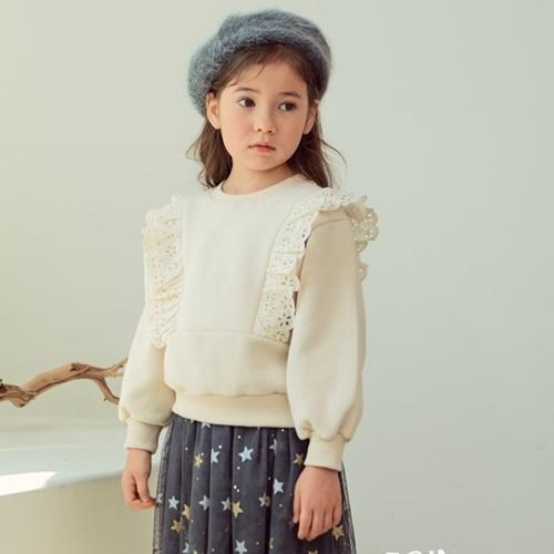 E.RU - BRAND - Korean Children Fashion - #Kfashion4kids - Merry Lace Pullover