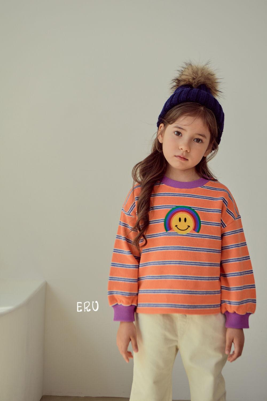 E.RU - Korean Children Fashion - #Kfashion4kids - Rainbow Smile Tee - 6