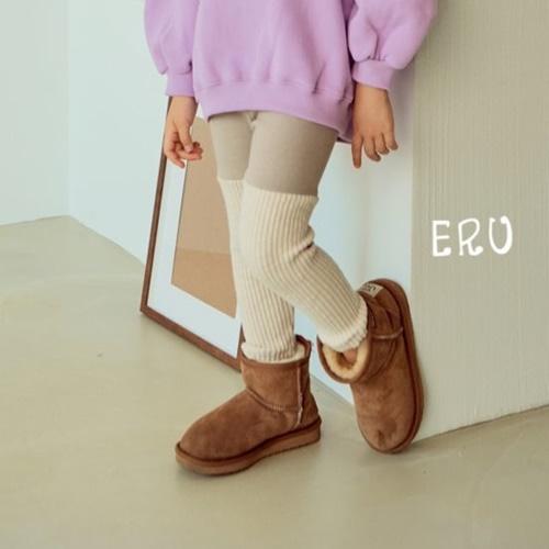 E.RU - BRAND - Korean Children Fashion - #Kfashion4kids - Rib Colored Leggings