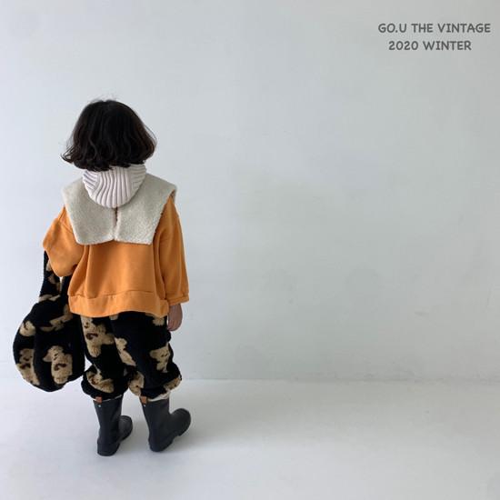 GOU - Korean Children Fashion - #Kfashion4kids - Bear Pants with Mom - 2