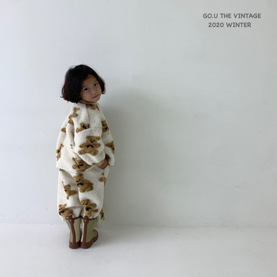 GOU - Korean Children Fashion - #Kfashion4kids - Bear Pants with Mom - 5