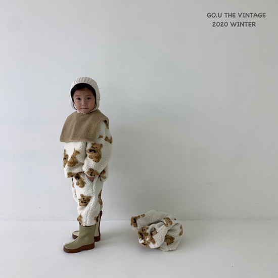 GOU - Korean Children Fashion - #Kfashion4kids - Bear Pants with Mom - 6
