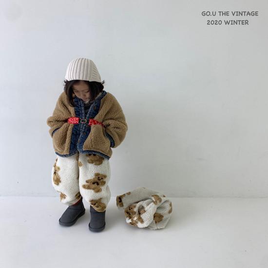 GOU - Korean Children Fashion - #Kfashion4kids - Bear Pants with Mom - 8