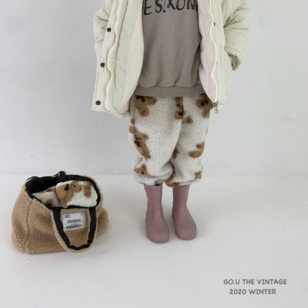 GOU - BRAND - Korean Children Fashion - #Kfashion4kids - Bear Pants with Mom