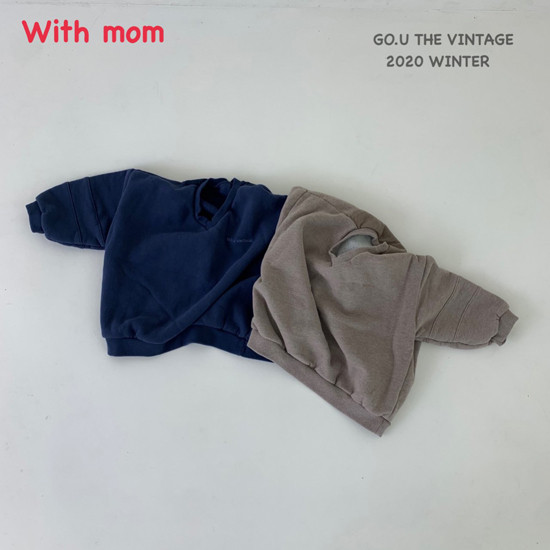 GOU - Korean Children Fashion - #Kfashion4kids - Vintage Sweat Shirt with Mom