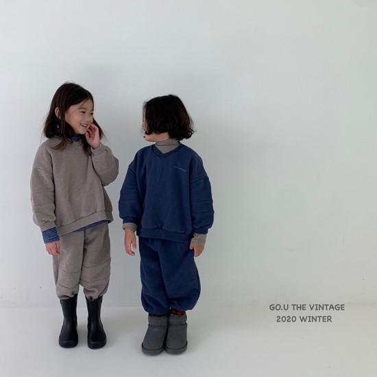 GOU - Korean Children Fashion - #Kfashion4kids - Vintage Sweat Shirt with Mom - 3