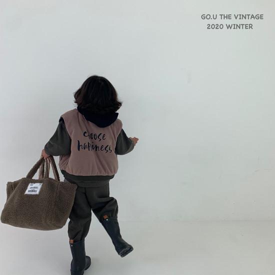 GOU - Korean Children Fashion - #Kfashion4kids - Winter Reversible Vest - 10