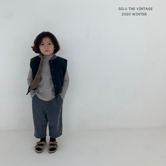 GOU - Korean Children Fashion - #Kfashion4kids - Winter Reversible Vest - 2