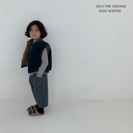 GOU - Korean Children Fashion - #Kfashion4kids - Winter Reversible Vest - 3
