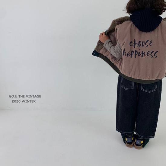 GOU - Korean Children Fashion - #Kfashion4kids - Winter Reversible Vest - 5