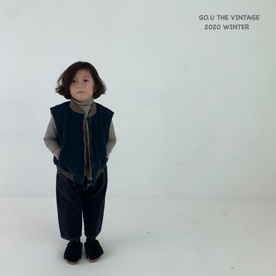 GOU - Korean Children Fashion - #Kfashion4kids - Winter Reversible Vest - 6