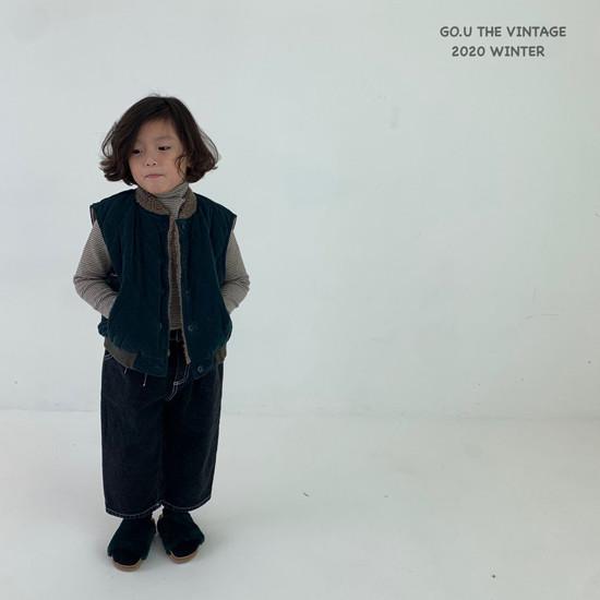 GOU - Korean Children Fashion - #Kfashion4kids - Winter Reversible Vest - 7