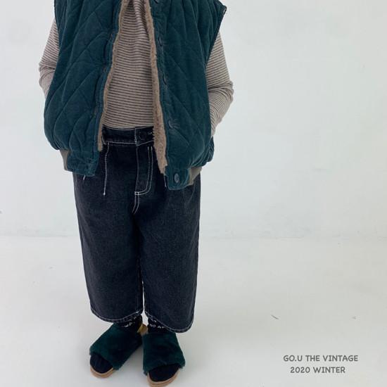 GOU - Korean Children Fashion - #Kfashion4kids - Winter Reversible Vest - 8