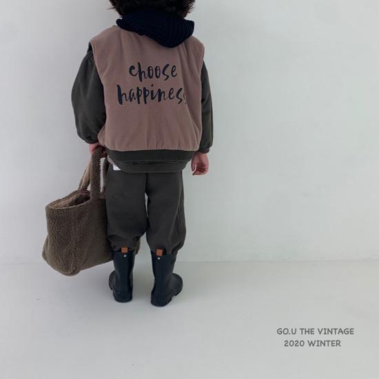 GOU - Korean Children Fashion - #Kfashion4kids - Winter Reversible Vest - 9