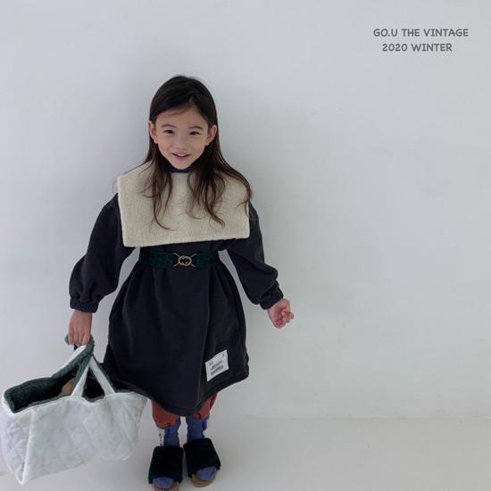 GOU - Korean Children Fashion - #Kfashion4kids - Patch Dress with Mom - 3