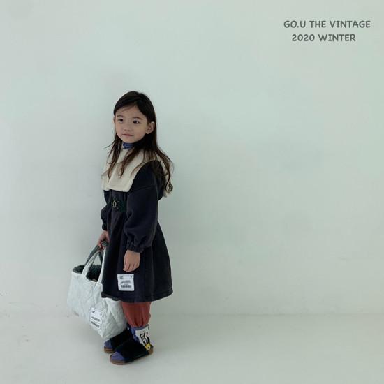 GOU - Korean Children Fashion - #Kfashion4kids - Patch Dress with Mom - 5
