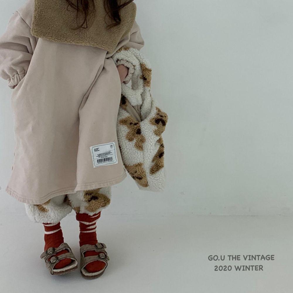 GOU - BRAND - Korean Children Fashion - #Kfashion4kids - Patch Dress with Mom