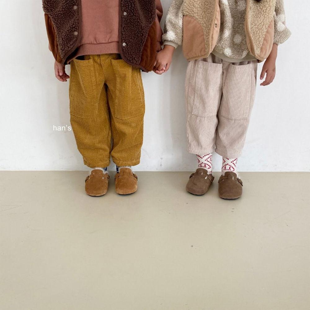 HAN'S - BRAND - Korean Children Fashion - #Kfashion4kids - Big Pocket Corduroy Pants