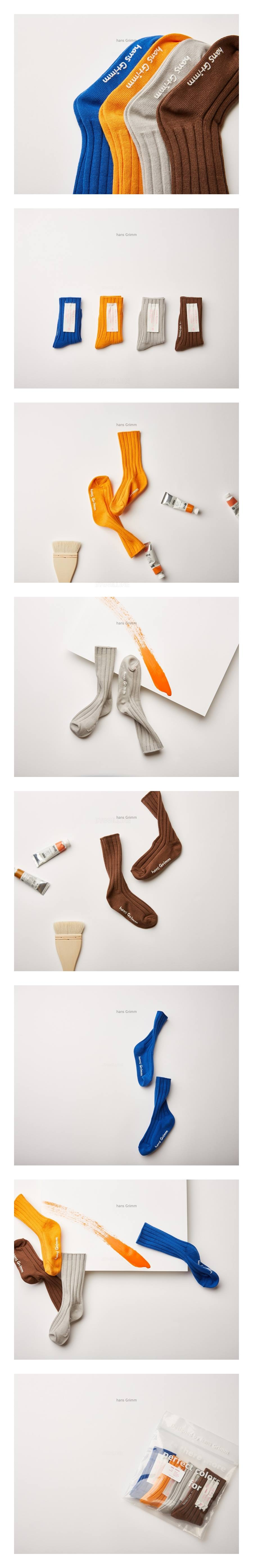 HANS GRIMM - Korean Children Fashion - #Kfashion4kids - Soft Mandarine Socks [set of 4]