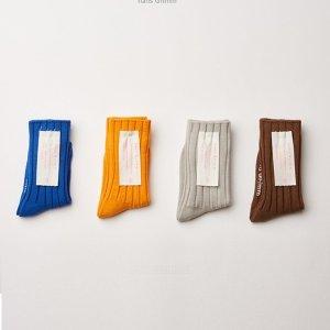 HANS GRIMM - BRAND - Korean Children Fashion - #Kfashion4kids - Soft Mandarine Socks [set of 4]
