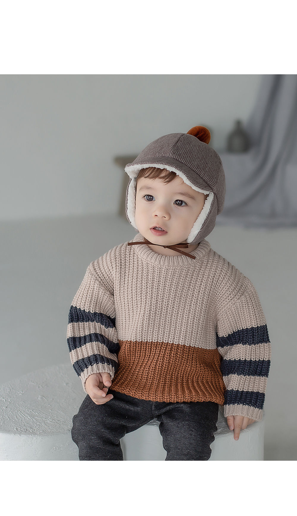 HAPPY PRINCE - Korean Children Fashion - #Kfashion4kids - Joseph Knit Baby Knit Pullover