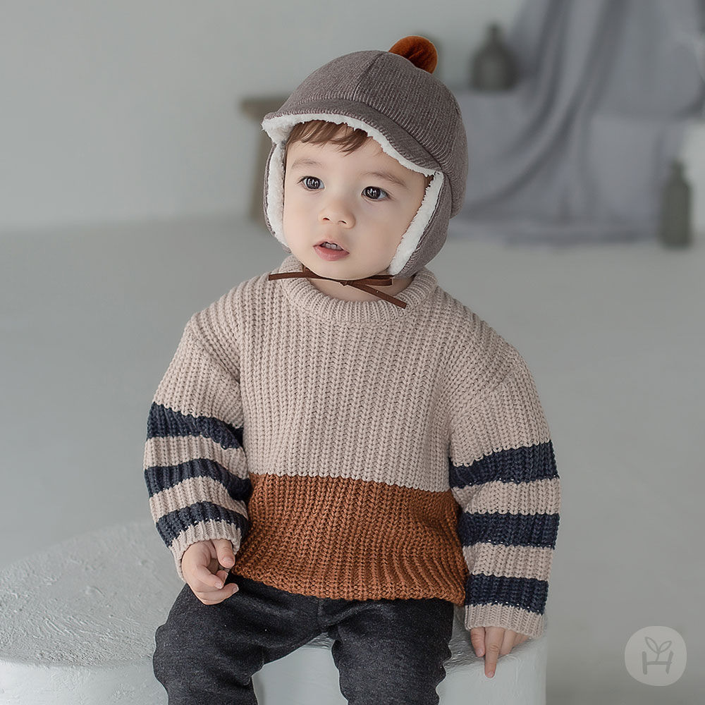HAPPY PRINCE - BRAND - Korean Children Fashion - #Kfashion4kids - Joseph Knit Baby Knit Pullover