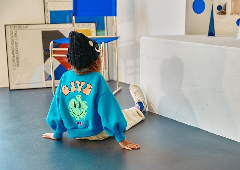 LILAS - Korean Children Fashion - #Kfashion4kids - Smile Sweatshirt
