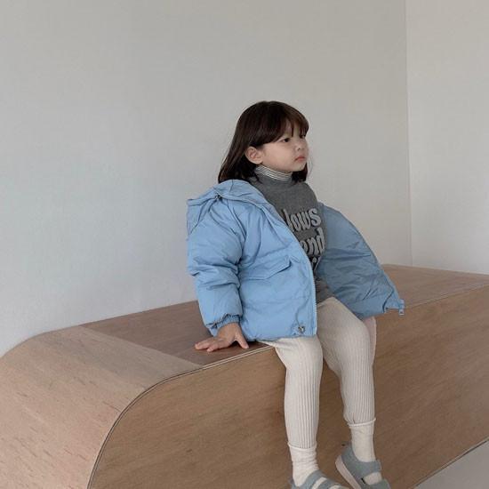 MELONSWITCH - Korean Children Fashion - #Kfashion4kids - Latte Short Padding - 3