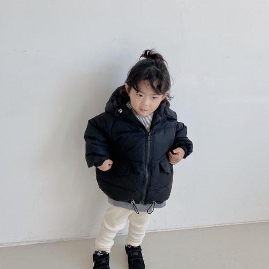 MELONSWITCH - Korean Children Fashion - #Kfashion4kids - Latte Short Padding - 5