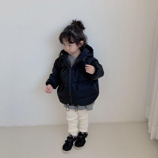 MELONSWITCH - Korean Children Fashion - #Kfashion4kids - Latte Short Padding - 6
