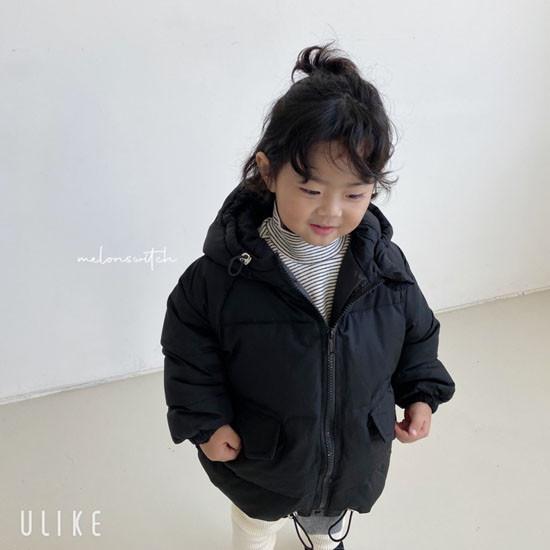 MELONSWITCH - Korean Children Fashion - #Kfashion4kids - Latte Short Padding - 7