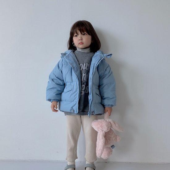 MELONSWITCH - Korean Children Fashion - #Kfashion4kids - Latte Short Padding - 8