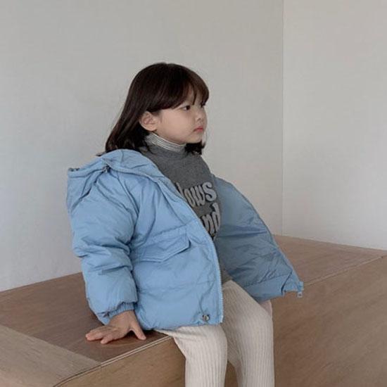 MELONSWITCH - BRAND - Korean Children Fashion - #Kfashion4kids - Latte Short Padding
