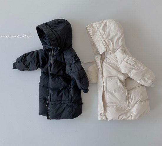MELONSWITCH - Korean Children Fashion - #Kfashion4kids - Fresh Cream Duck Padding Jumper