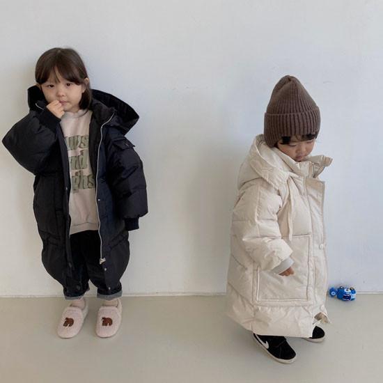 MELONSWITCH - Korean Children Fashion - #Kfashion4kids - Fresh Cream Duck Padding Jumper - 12