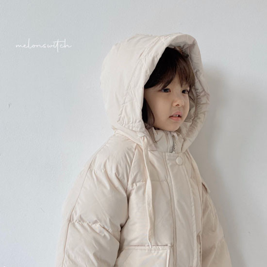 MELONSWITCH - Korean Children Fashion - #Kfashion4kids - Fresh Cream Duck Padding Jumper - 2