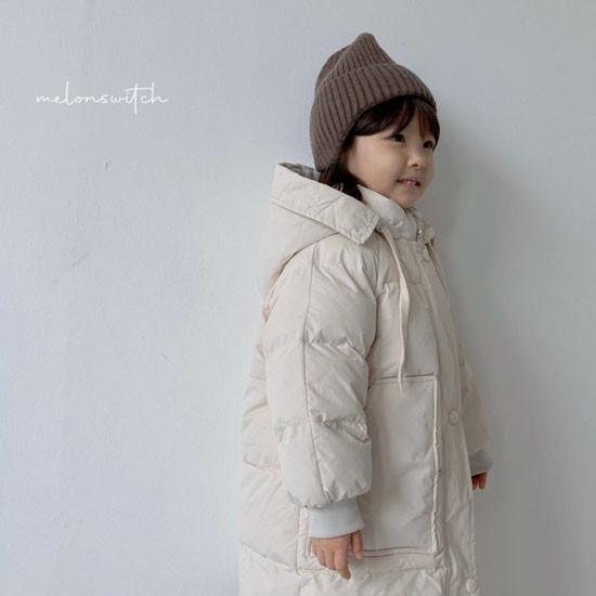 MELONSWITCH - Korean Children Fashion - #Kfashion4kids - Fresh Cream Duck Padding Jumper - 3