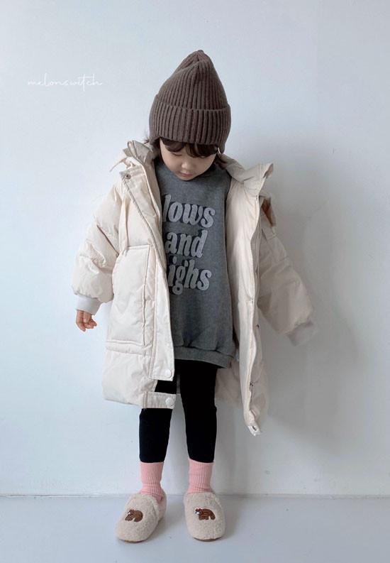 MELONSWITCH - Korean Children Fashion - #Kfashion4kids - Fresh Cream Duck Padding Jumper - 4
