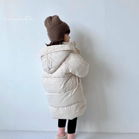 MELONSWITCH - Korean Children Fashion - #Kfashion4kids - Fresh Cream Duck Padding Jumper - 6