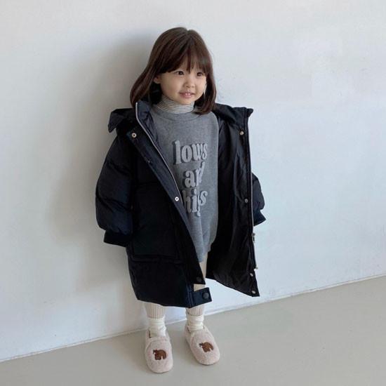 MELONSWITCH - Korean Children Fashion - #Kfashion4kids - Fresh Cream Duck Padding Jumper - 8