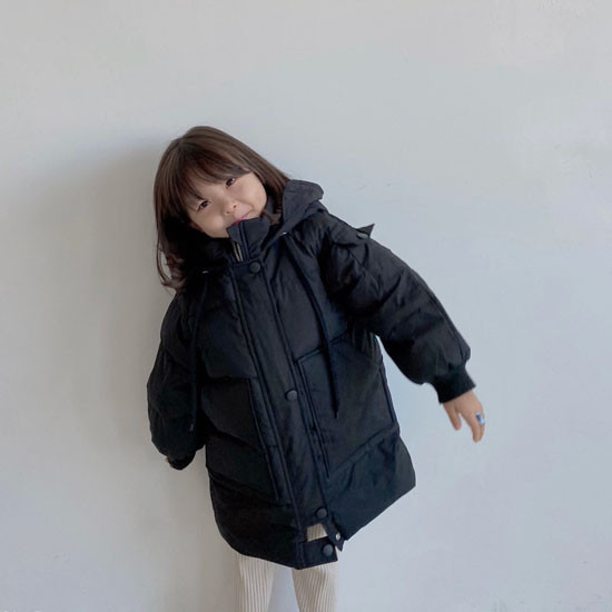 MELONSWITCH - Korean Children Fashion - #Kfashion4kids - Fresh Cream Duck Padding Jumper - 9