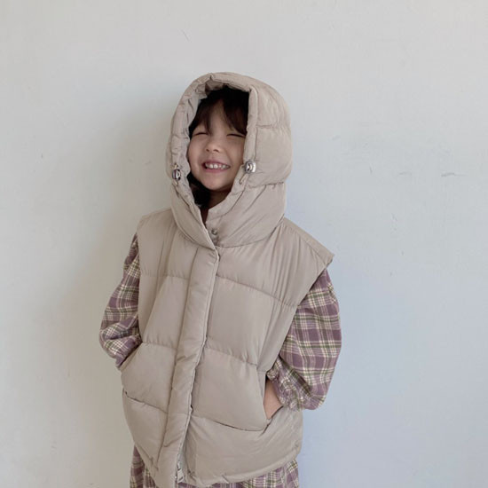 MELONSWITCH - Korean Children Fashion - #Kfashion4kids - Tofu Padding Vest - 8