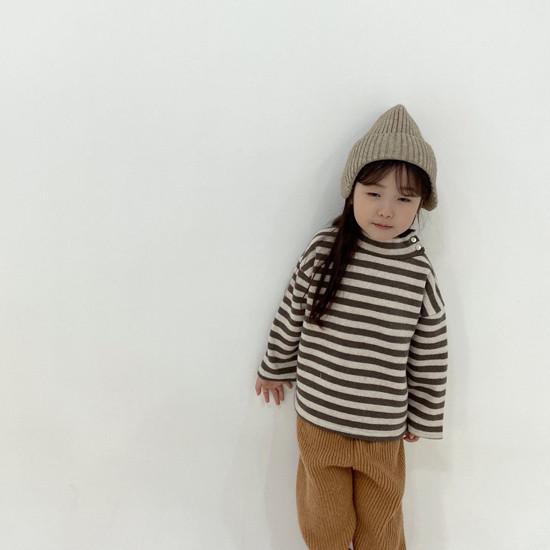 MELONSWITCH - Korean Children Fashion - #Kfashion4kids - Button Turtleneck Sweatshirt - 10
