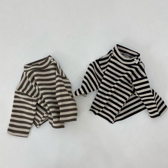 MELONSWITCH - Korean Children Fashion - #Kfashion4kids - Button Turtleneck Sweatshirt - 12