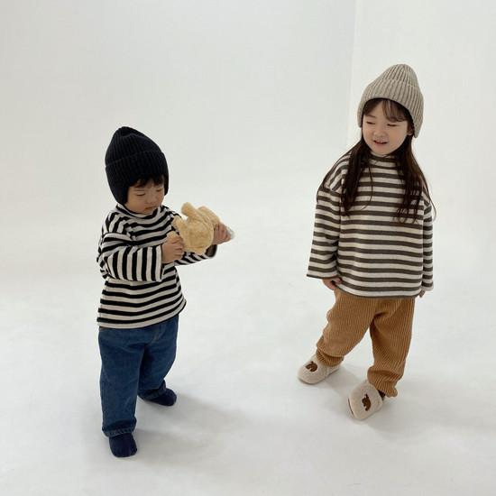 MELONSWITCH - Korean Children Fashion - #Kfashion4kids - Button Turtleneck Sweatshirt - 6