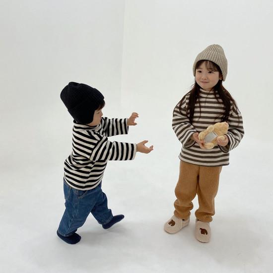 MELONSWITCH - Korean Children Fashion - #Kfashion4kids - Button Turtleneck Sweatshirt - 7