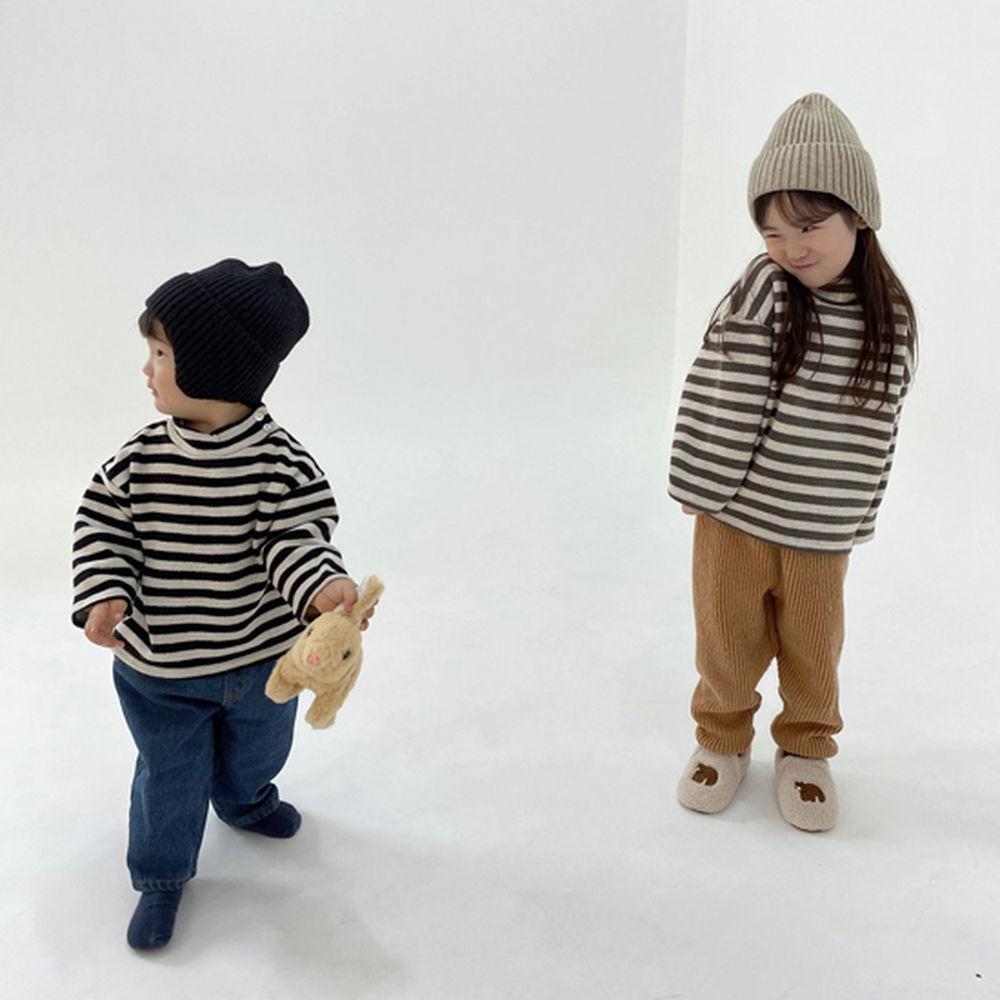 MELONSWITCH - BRAND - Korean Children Fashion - #Kfashion4kids - Button Turtleneck Sweatshirt